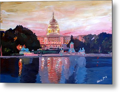 United States Capitol In Washington D.c. At Sunset Metal Print by M Bleichner