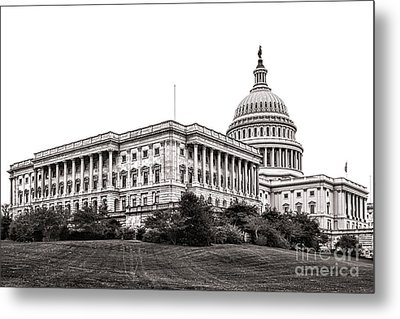 United States Capitol Senate Wing Metal Print by Olivier Le Queinec