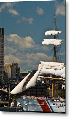 Metal Print featuring the photograph United States Coast Guard Cutter by Caroline Stella