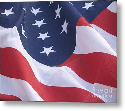 United States Flag  Metal Print by Chrisann Ellis
