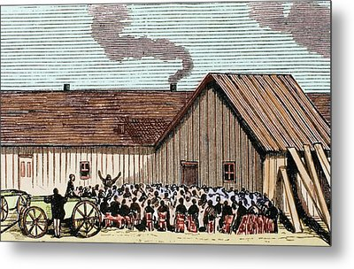 United States Kansas Mennonite Metal Print