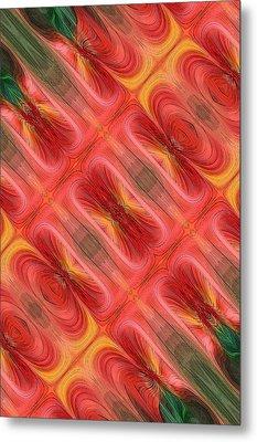 United Tiles Metal Print by Linda Phelps
