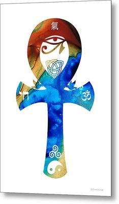 Unity 15 - Spiritual Artwork Metal Print by Sharon Cummings