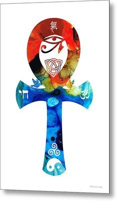 Unity 16 - Spiritual Artwork Metal Print by Sharon Cummings