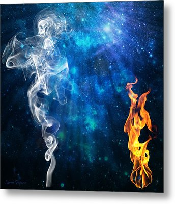 Universal Energies At War Metal Print by Leanne Seymour