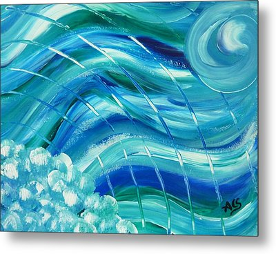 Universal Waves Metal Print