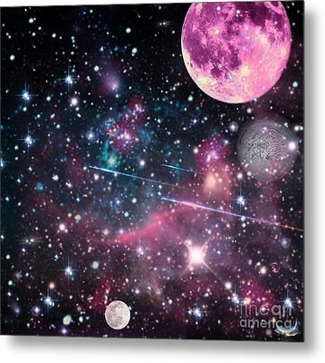 Metal Print featuring the digital art Universe - Abstract by Ester  Rogers