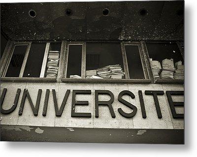 Universite Metal Print by Marta Grabska-Press