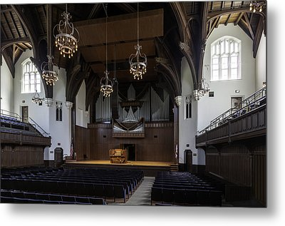University Auditorium And The Anderson Memorial Organ Metal Print by Lynn Palmer