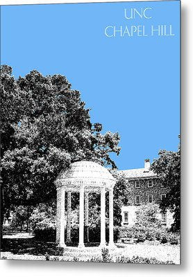 University North Carolina Chapel Hill - Light Blue Metal Print by DB Artist