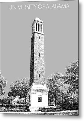 University Of Alabama - Silver Metal Print