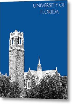 University Of Florida - Royal Blue Metal Print