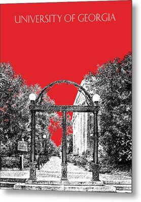 University Of Georgia - Georgia Arch - Red Metal Print by DB Artist
