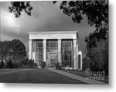 University Of Illinois Kinkead Pavilion Metal Print by University Icons
