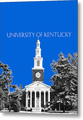 University Of Kentucky - Blue Metal Print