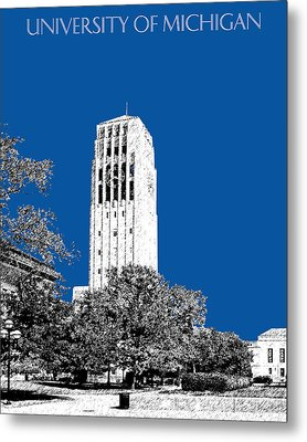 University Of Michigan - Royal Blue Metal Print by DB Artist