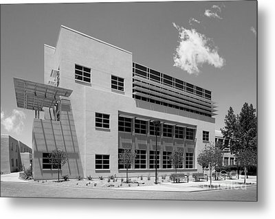 University Of New Mexico Castetter Hall Metal Print by University Icons