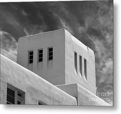 University Of New Mexico Mesa Vista Hall Metal Print by University Icons