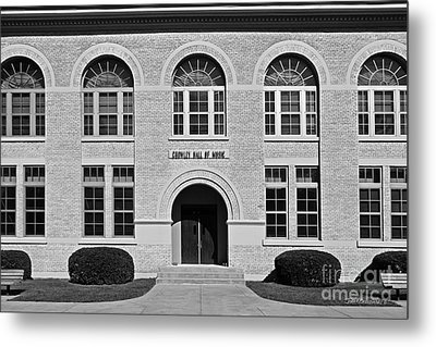 University Of Notre Dame Crowley Hall Of Music Metal Print by University Icons