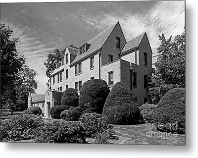University Of Notre Dame Howard Hall Metal Print by University Icons