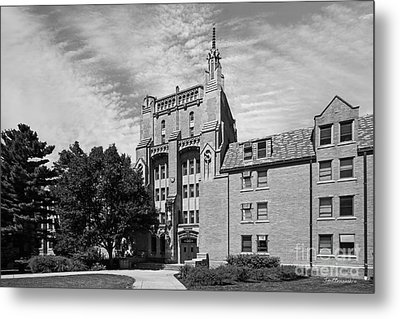 University Of Notre Dame Morrissey Hall Metal Print by University Icons