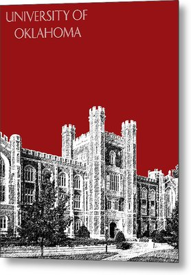 University Of Oklahoma - Dark Red Metal Print