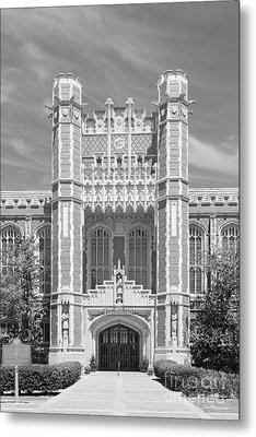 University Of Oklahoma Bizzell Memorial Library  Metal Print by University Icons