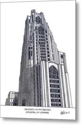 University Of Pittsburgh Metal Print by Frederic Kohli