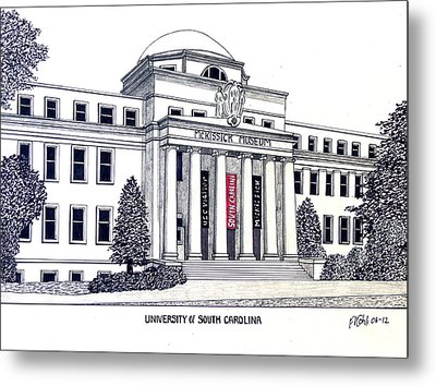 University Of South Carolina Metal Print