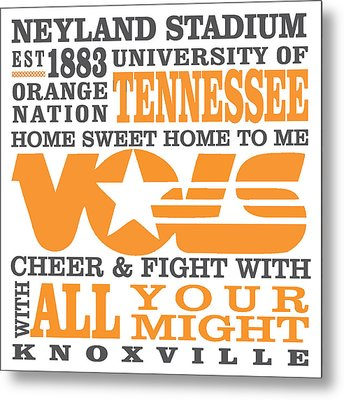 University Of Tennessee Graphic Canvas Metal Print