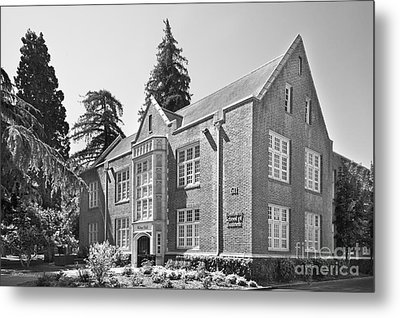 University Of The Pacific - Eberhardt School Of Business Metal Print by University Icons