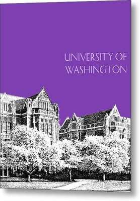 University Of Washington 2 - The Quad - Purple Metal Print by DB Artist