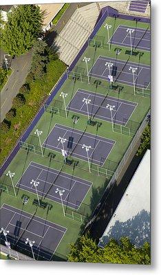University Of Washington Tennis Courts Metal Print by Andrew Buchanan/SLP