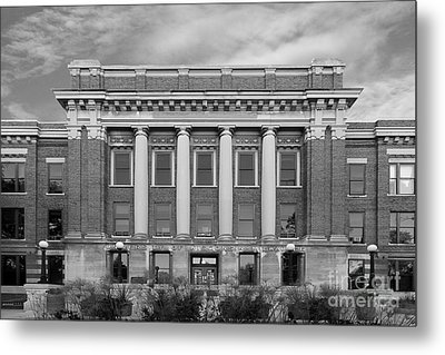University Of Wisconsin Milwaukee Mitchell Hall Metal Print by University Icons