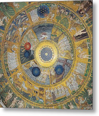 Unknown Artist, Cupola Of The Creation Metal Print by Everett