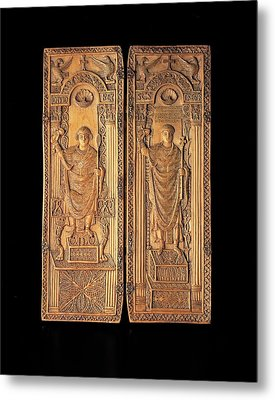 Unknown, Ivory Diptych With David Metal Print