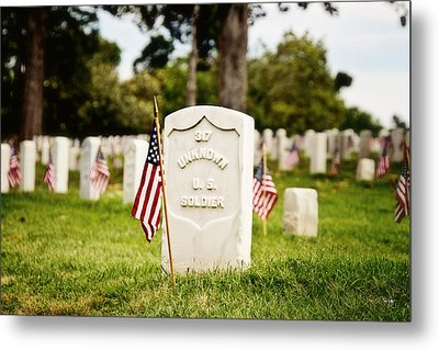 Unknown U.s. Soldier Metal Print by Scott Pellegrin