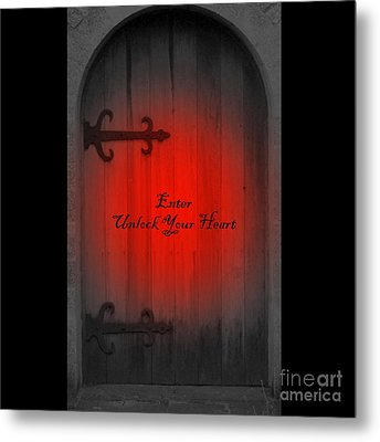 Metal Print featuring the photograph Unlock Your Heart by Linda Prewer