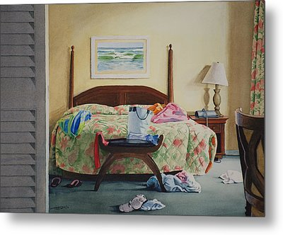 Unslept In Metal Print by Christopher Reid