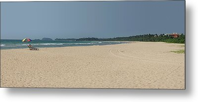 Unspoiled Beach At Bentota Beach Metal Print by Panoramic Images