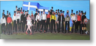 Unst Mail Voice Choir World Tour Metal Print by Eric Burgess-Ray