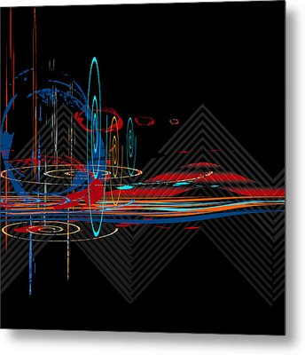 Metal Print featuring the digital art Untitled 76 by Andrew Penman