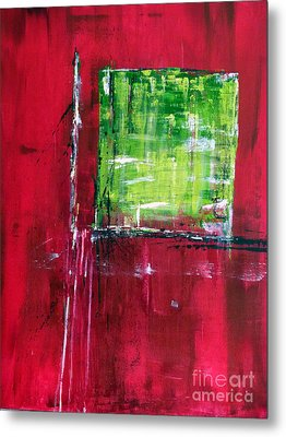 Untitled- Abstract  Metal Print by Ismeta Gruenwald