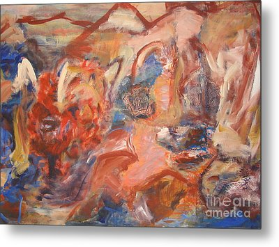 Metal Print featuring the painting Untitled Composition IIII by Fereshteh Stoecklein