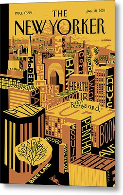 New Yorker January 31st, 2011 Metal Print