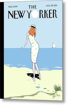 New Yorker August 29th, 2011 Metal Print by Istvan Banyai