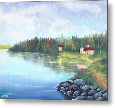 Untitled Landscape Oil Painting Metal Print