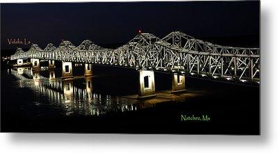 Natchez Bridges Metal Print