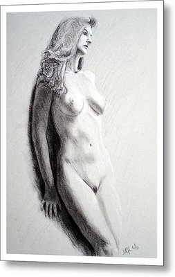Metal Print featuring the painting Untitled Nude by Joseph Ogle
