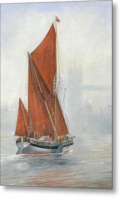 Untitled Sailing Barge 2 Metal Print by Eric Bellis